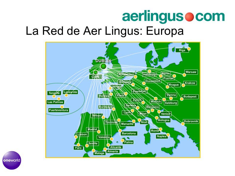 La Red de Aer Lingus: Europa