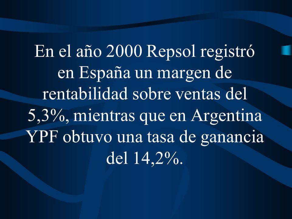 Durante los años 90, las tasas de beneficio registradas por Aguas Argentinas fueron del orden del 23% sobre patrimonio neto.