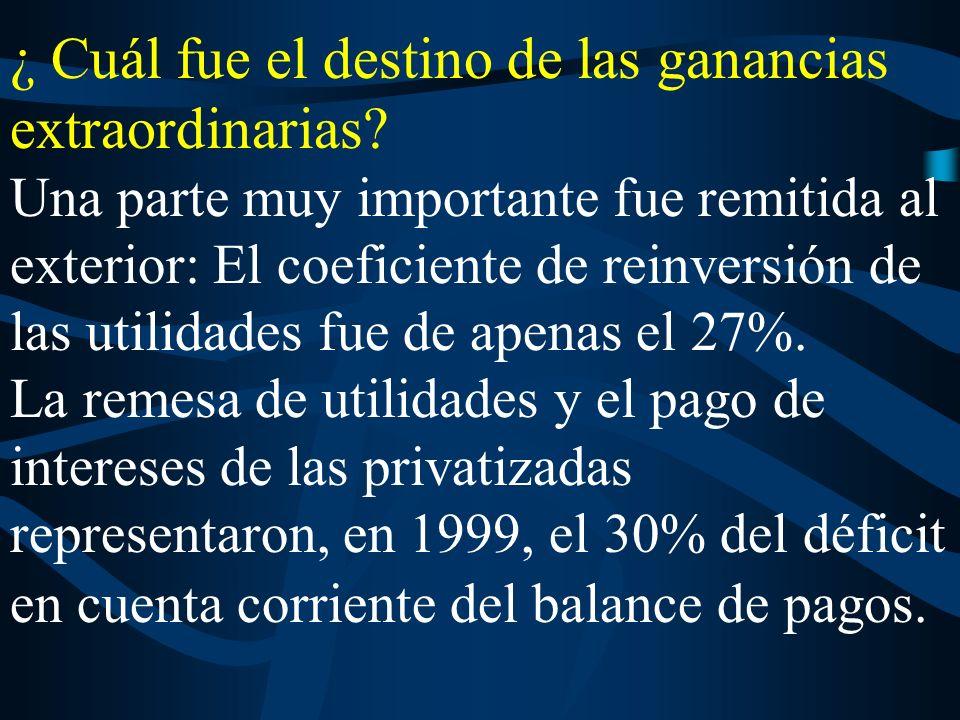 La reducida inversión efectuada a) se asoció, en violación a la ley de compre argentino, a una fuerte importación de insumos y bienes de capital b) fue financiada con endeudamiento, sobre todo externo