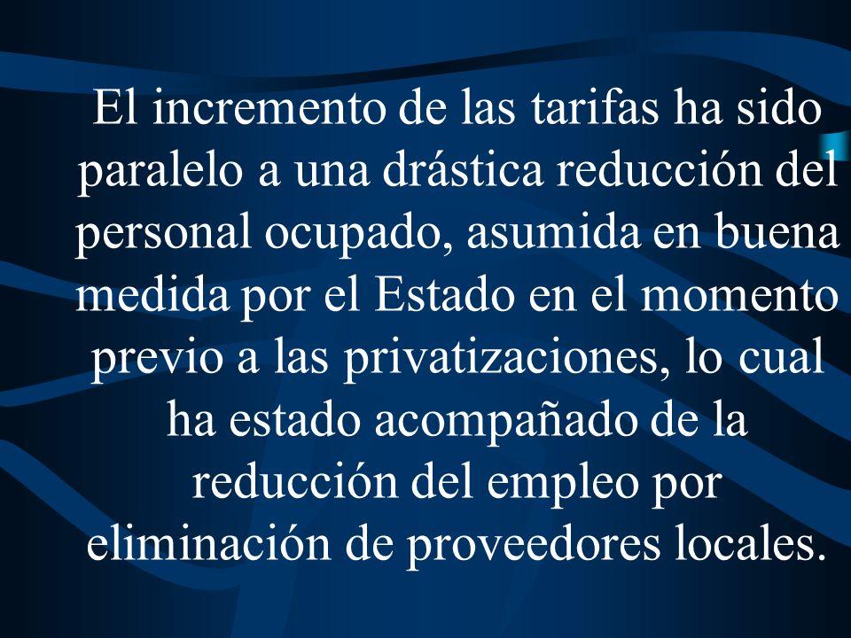Gastos en servicios de los hogares que integran el 20% más pobre de la población, 1986-1996 (% del gasto local del primer quintil)