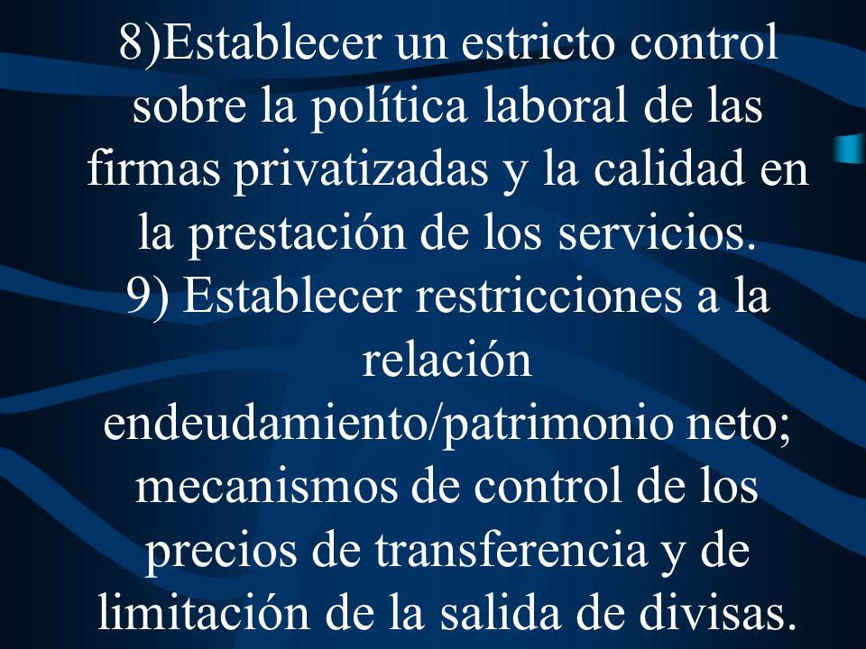 6) Prohibición del corte de servicios a los hogares que se encuentran por debajo de la línea de pobreza.