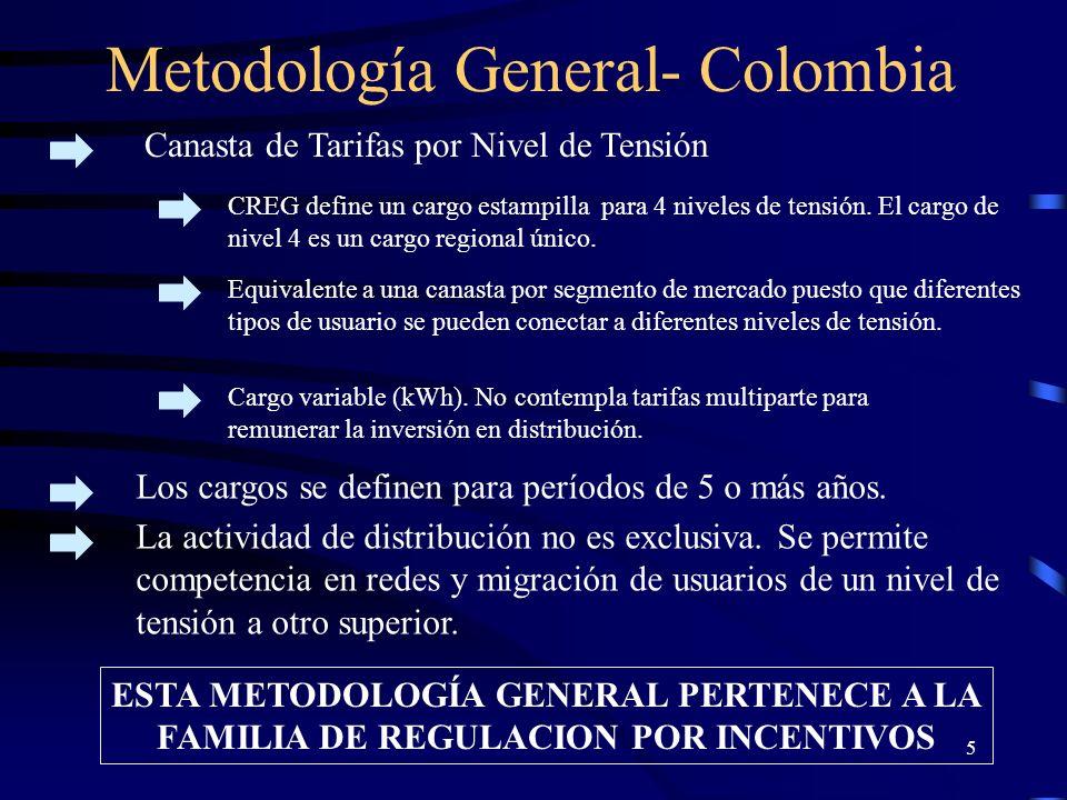 Costos de Prestación del Servicio en Colombia TARIFAS CIER La Comisión de Integración Energética Regional (CIER) compila información de tarifas para muestras de empresas por país.