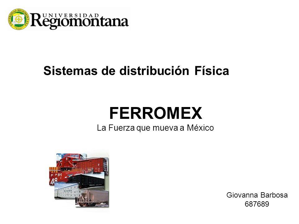 Sistemas de distribución Física FERROMEX La Fuerza que mueva a México Giovanna Barbosa 687689