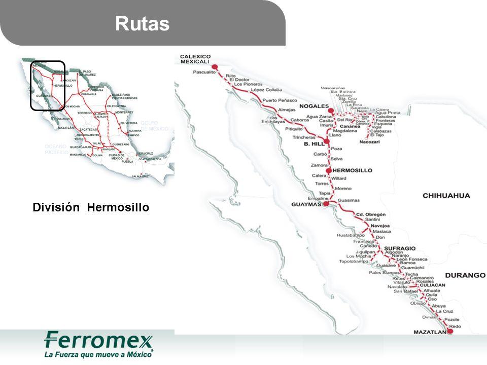 Rutas División Hermosillo