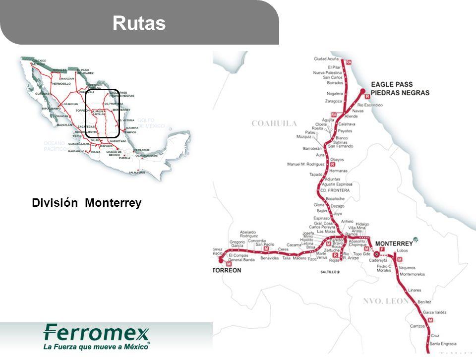 Rutas División Monterrey