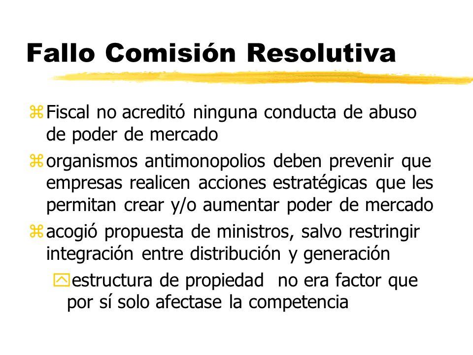 Fallo Comisión Resolutiva zFiscal no acreditó ninguna conducta de abuso de poder de mercado zorganismos antimonopolios deben prevenir que empresas rea