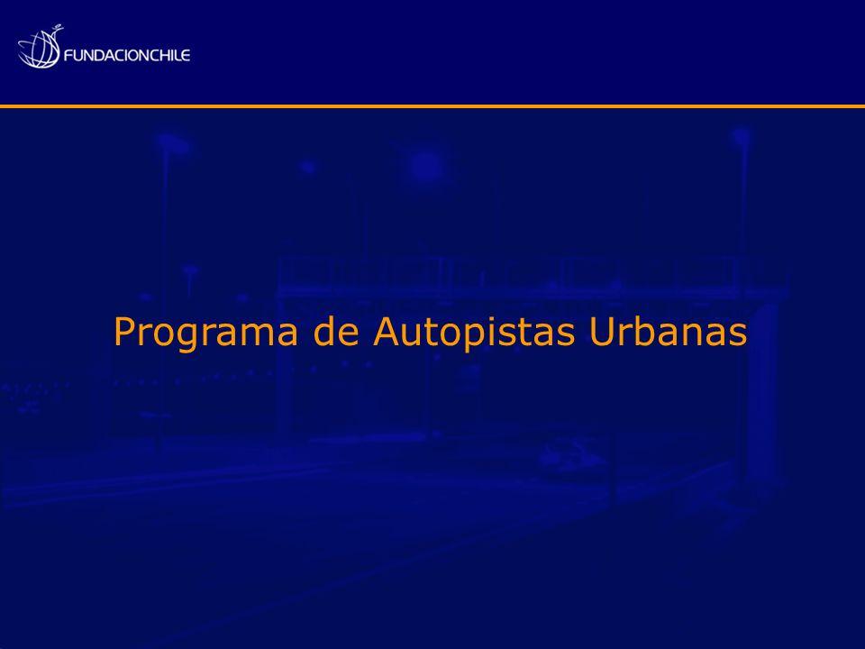 Costanera Norte 1999/2005 US$ 410 MM 16 puntos de cobro 44 Km de autopista 500.000 Tags Autopistas Urbanas
