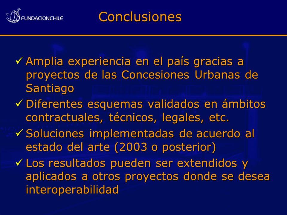 Amplia experiencia en el país gracias a proyectos de las Concesiones Urbanas de Santiago Amplia experiencia en el país gracias a proyectos de las Conc