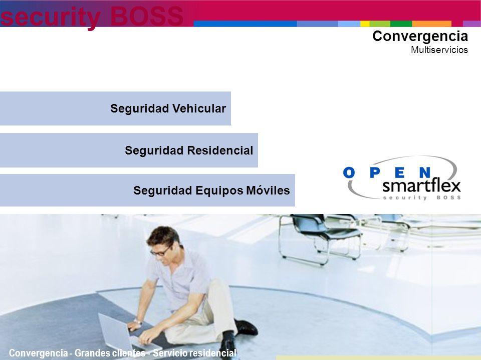 security BOSS Convergencia Multiservicios Convergencia - Grandes clientes - Servicio residencial Seguridad Residencial Seguridad Equipos Móviles Segur