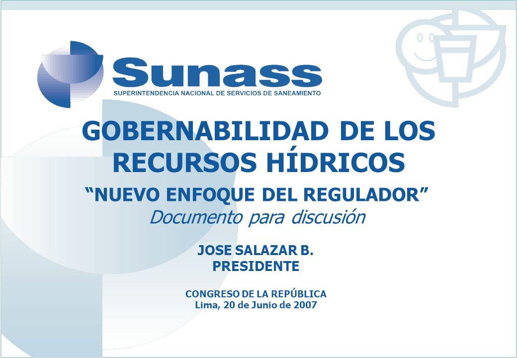 GOBERNABILIDAD DE LOS RECURSOS HÍDRICOS JOSE SALAZAR B.