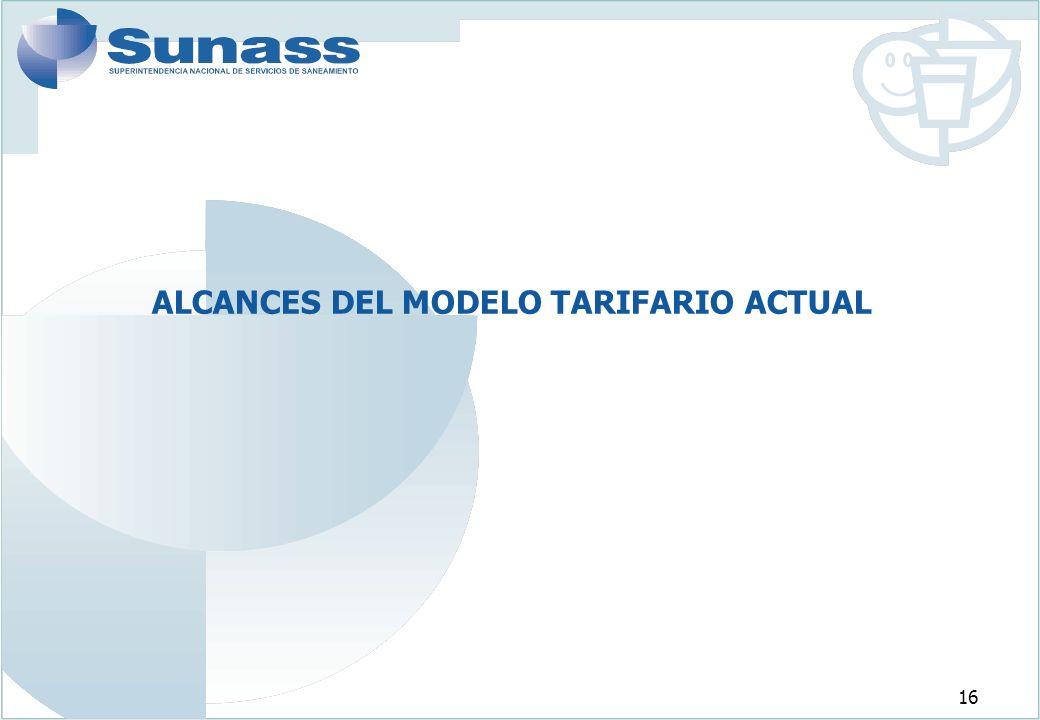16 ALCANCES DEL MODELO TARIFARIO ACTUAL