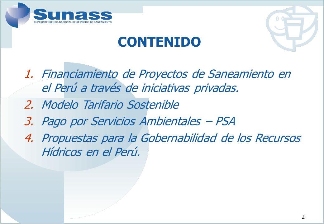 2 1.Financiamiento de Proyectos de Saneamiento en el Perú a través de iniciativas privadas.