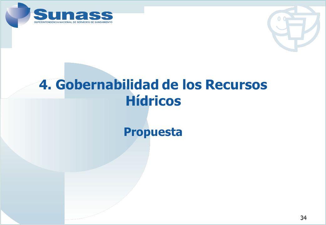34 4. Gobernabilidad de los Recursos Hídricos Propuesta
