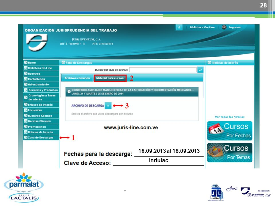 2 1 3 - 28 16.09.2013 al 18.09.2013 Indulac