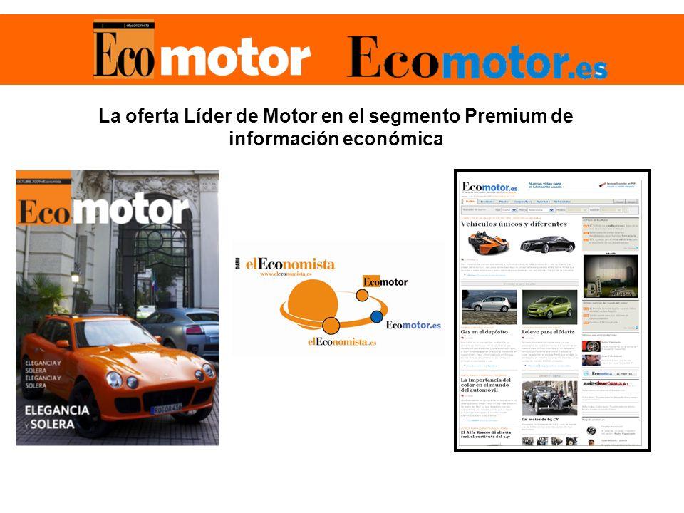 La oferta Líder de Motor en el segmento Premium de información económica