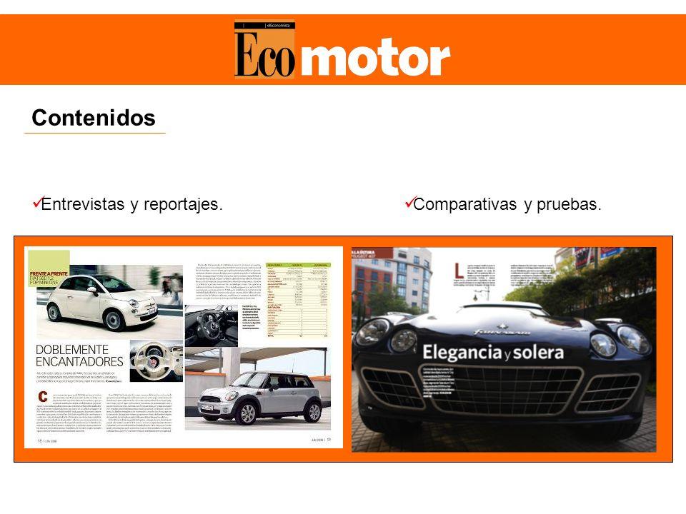Contenidos Entrevistas y reportajes. Comparativas y pruebas.