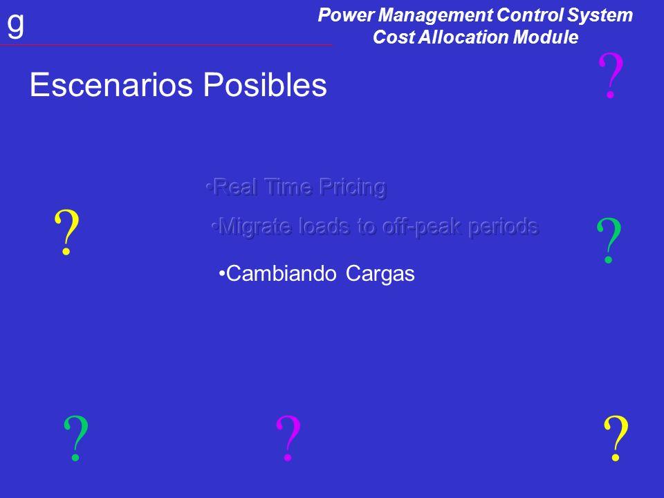Power Management Control System Cost Allocation Module g Equipos adecuados para esta Aplicación EquiposFirmware Rev.