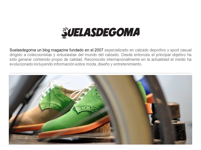 Suelasdegoma un blog magazine fundado en el 2007 especializado en calzado deportivo y sport casual dirigido a coleccionistas y entusiastas del mundo d