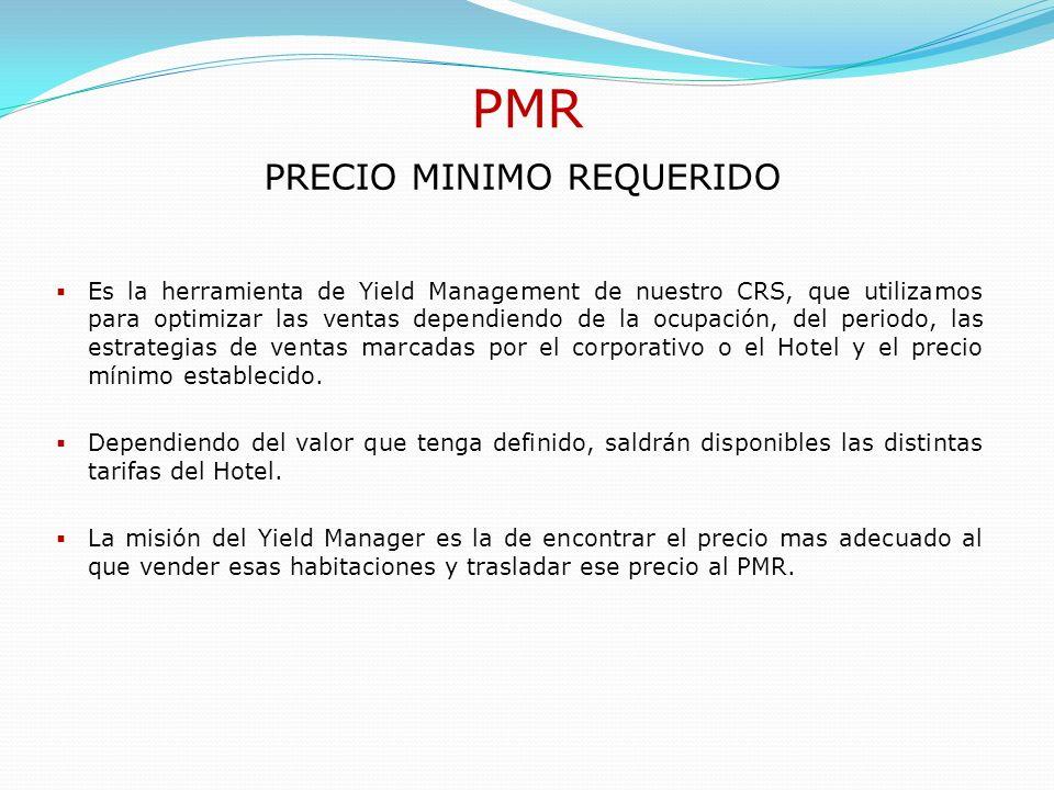 BAR La BAR es el método más sencillo para comercializar el Hotel, pero no debemos descuidar el PMR, ya que este conlleva otro paquete de tarifas que juntos suponen la óptima comercialización del Hotel.