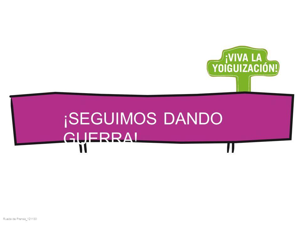 Rueda de Prensa_121130 ¡SEGUIMOS DANDO GUERRA!