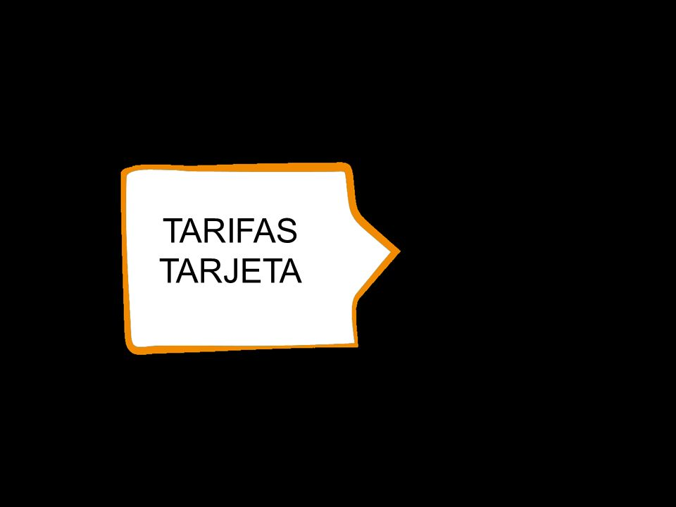 TARIFAS TARJETA