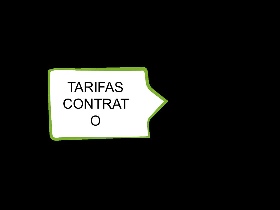 TARIFAS CONTRAT O