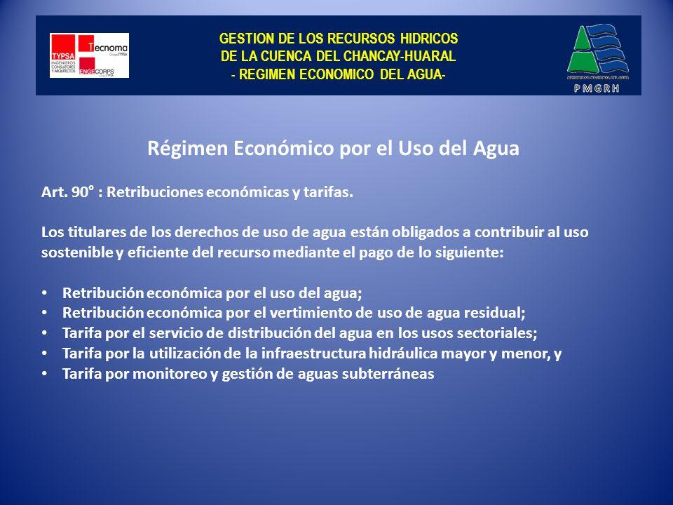 GESTION DE LOS RECURSOS HIDRICOS DE LA CUENCA DEL CHANCAY-HUARAL - USOS SECTORIALES DEL AGUA EN LA CUENCA CHANCAY-HUARAL- Usos del agua identificados en la Cuenca: Teniendo en cuenta los derechos de uso otorgados, en la Cuenca se identifica los usos siguientes: Poblacional, Agrario, Minero, y Energético.