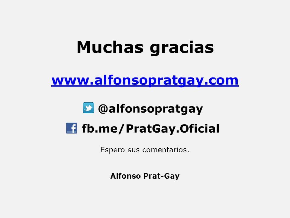 Muchas gracias www.alfonsopratgay.com Espero sus comentarios.