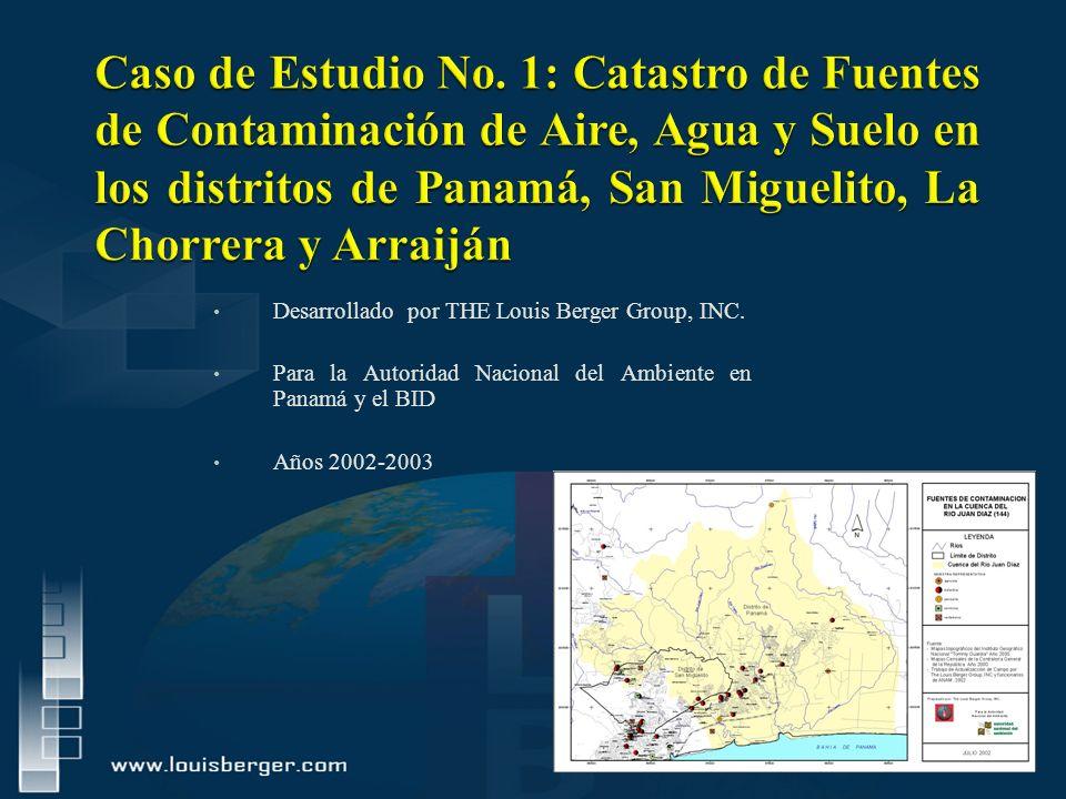 Desarrollado por THE Louis Berger Group, INC. Para la Autoridad Nacional del Ambiente en Panamá y el BID Años 2002-2003