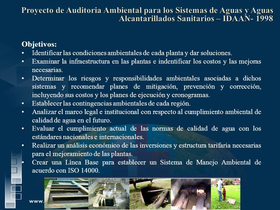 Objetivos: Identificar las condiciones ambientales de cada planta y dar soluciones. Examinar la infraestructura en las plantas e indentificar los cost