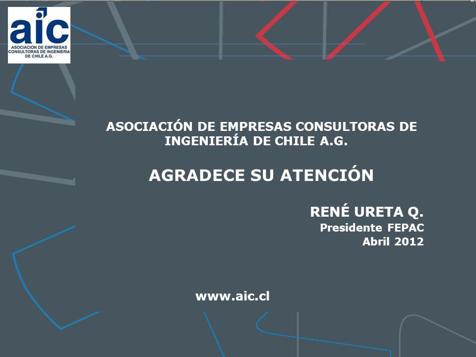 GRACIAS ASOCIACIÓN DE EMPRESAS CONSULTORAS DE INGENIERÍA DE CHILE A.G.