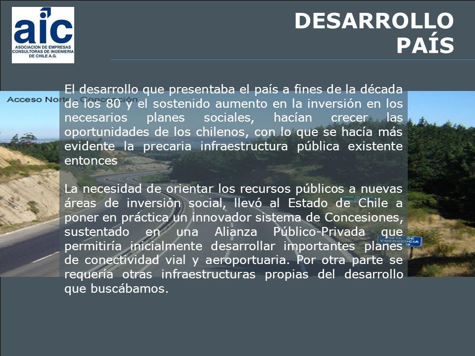 INVERSIONISTAS PRIVADOS De esta forma se buscó involucrar a los inversionistas privados en la construcción, mantención y operación de la infraestructura necesaria.