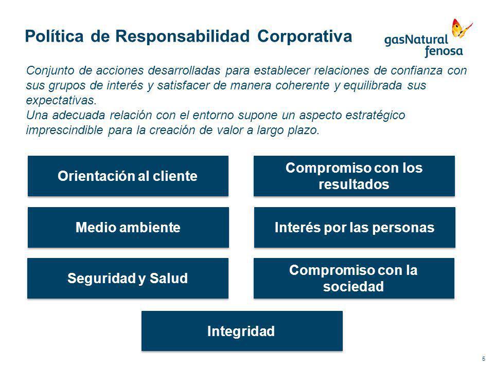 Política de Responsabilidad Corporativa 5 Conjunto de acciones desarrolladas para establecer relaciones de confianza con sus grupos de interés y satis