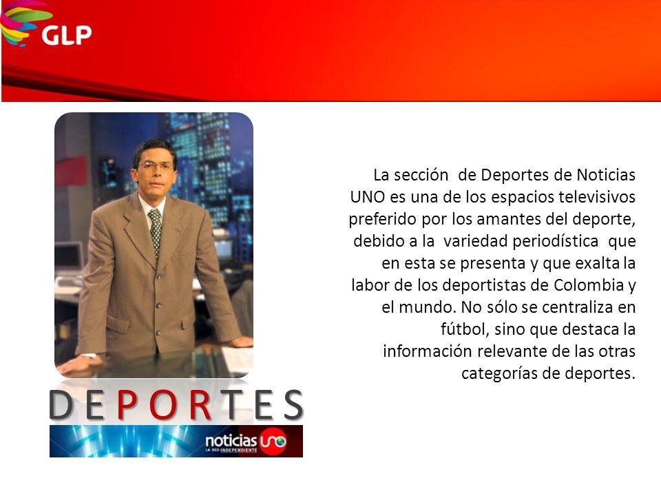 DEPORTES La sección de Deportes de Noticias UNO es una de los espacios televisivos preferido por los amantes del deporte, debido a la variedad periodí