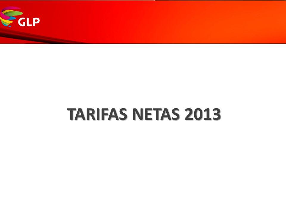 TARIFAS NETAS 2013