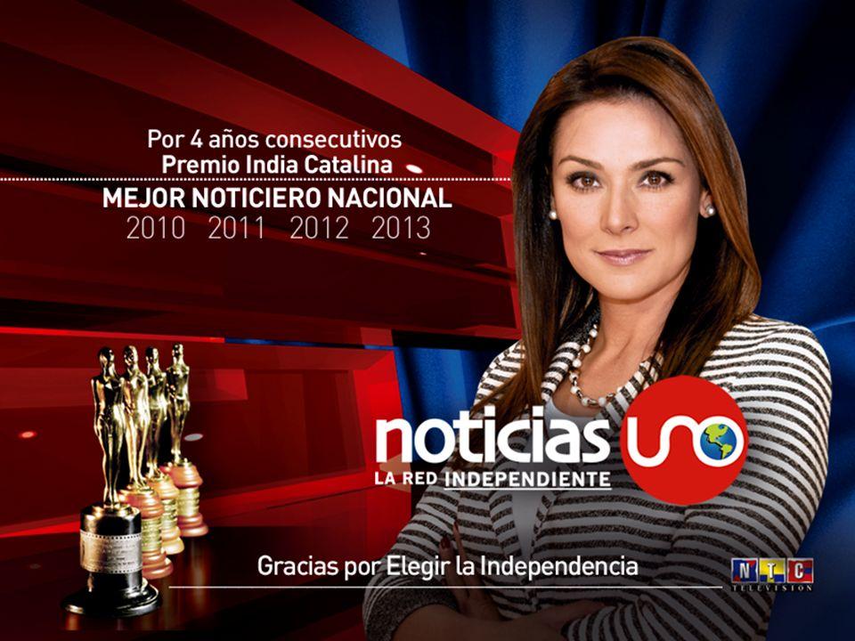 Noticias UNO La Red Independiente, ha recibido por cuatro años consecutivos la estatuilla más importante de la televisión colombiana, el PREMIO INDIA CATALINA como Mejor Noticiero del país.