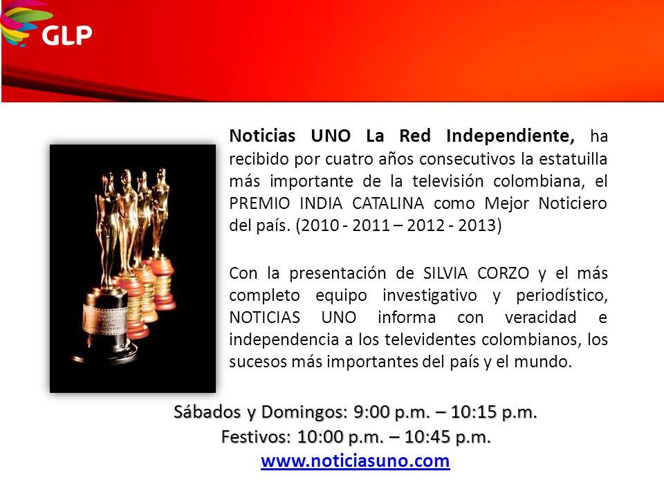 Noticias UNO La Red Independiente, ha recibido por cuatro años consecutivos la estatuilla más importante de la televisión colombiana, el PREMIO INDIA