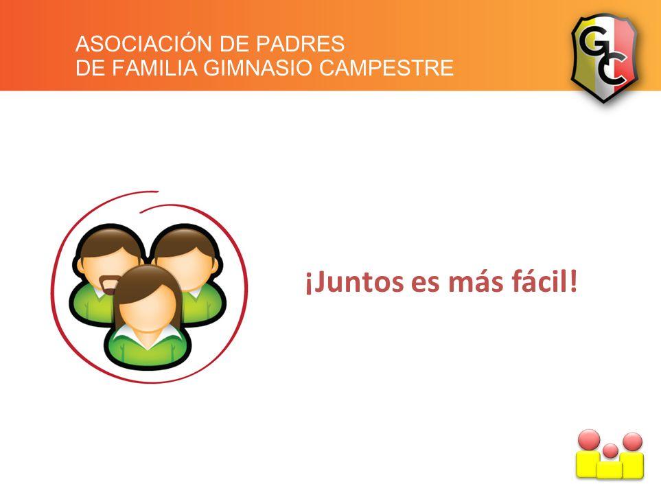 ASOCIACIÓN DE PADRES DE FAMILIA GIMNASIO CAMPESTRE ¡Juntos es más fácil!