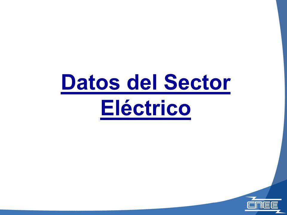Datos del Sector Eléctrico
