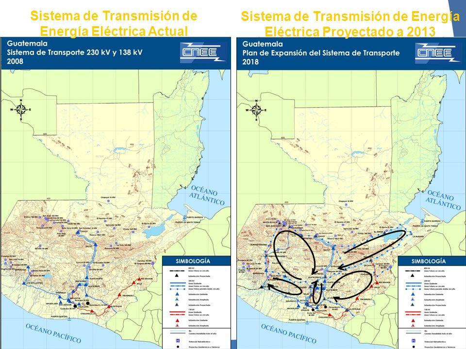 Sistema de Transmisión de Energía Eléctrica Actual Sistema de Transmisión de Energía Eléctrica Proyectado a 2013