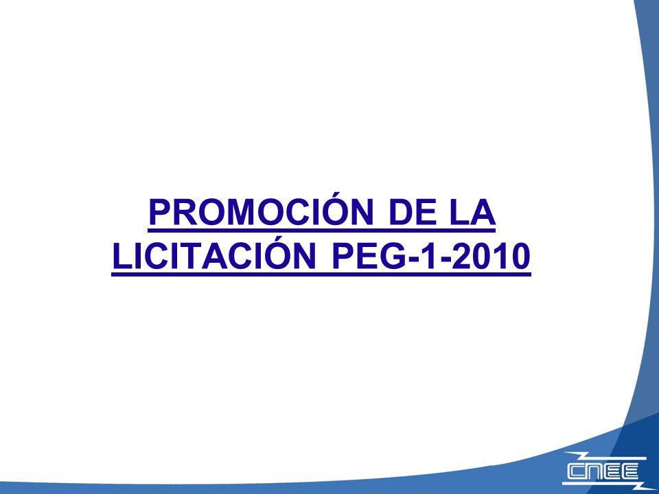 PROMOCIÓN DE LA LICITACIÓN PEG-1-2010