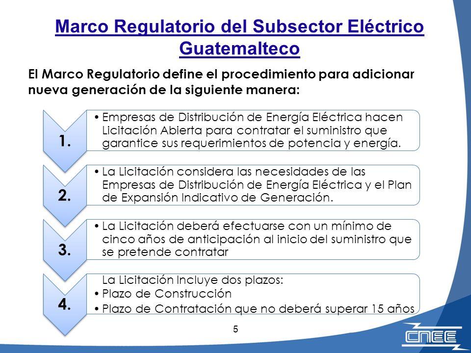 5 1. Empresas de Distribución de Energía Eléctrica hacen Licitación Abierta para contratar el suministro que garantice sus requerimientos de potencia