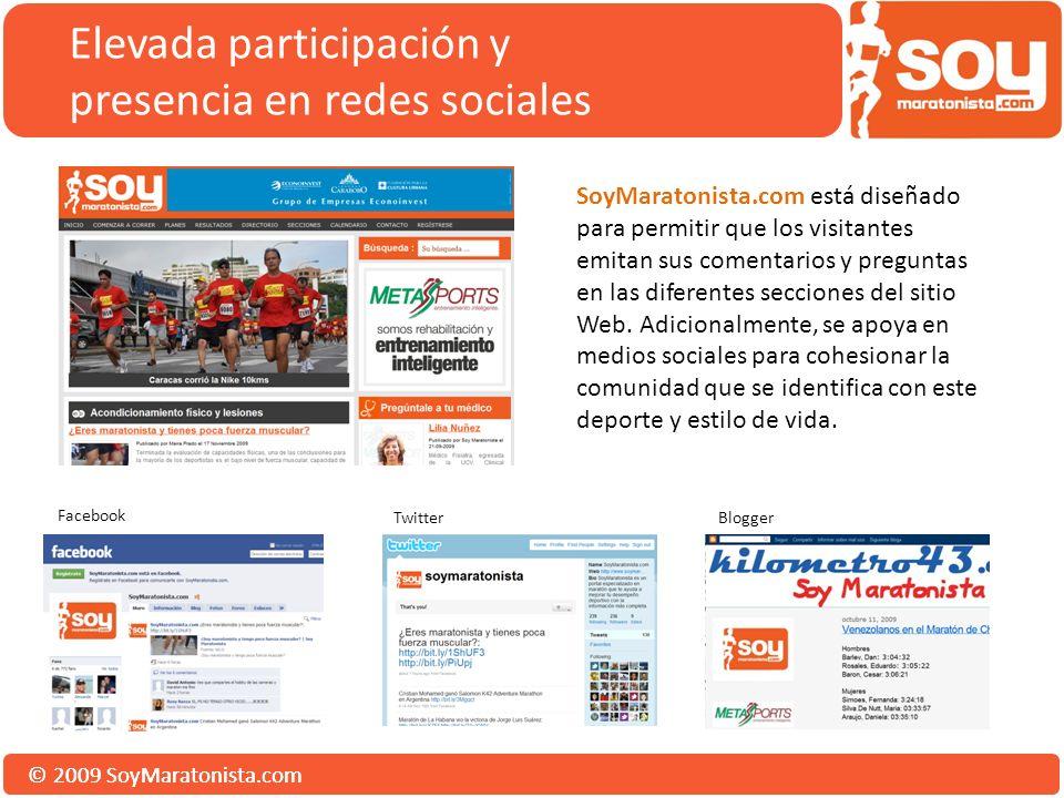 © 2009 SoyMaratonista.com SoyMaratonista.com está diseñado para permitir que los visitantes emitan sus comentarios y preguntas en las diferentes secciones del sitio Web.