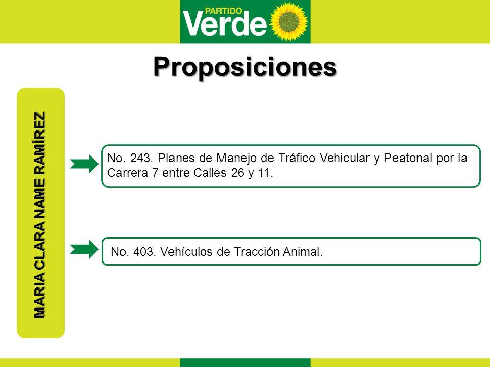 Proposiciones MARIA CLARA NAME RAMÍREZ No.243.