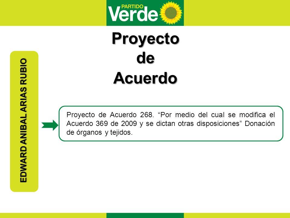 Proposiciones EDWARD ANIBAL ARIAS RUBIO Proposición 47 de 2012.
