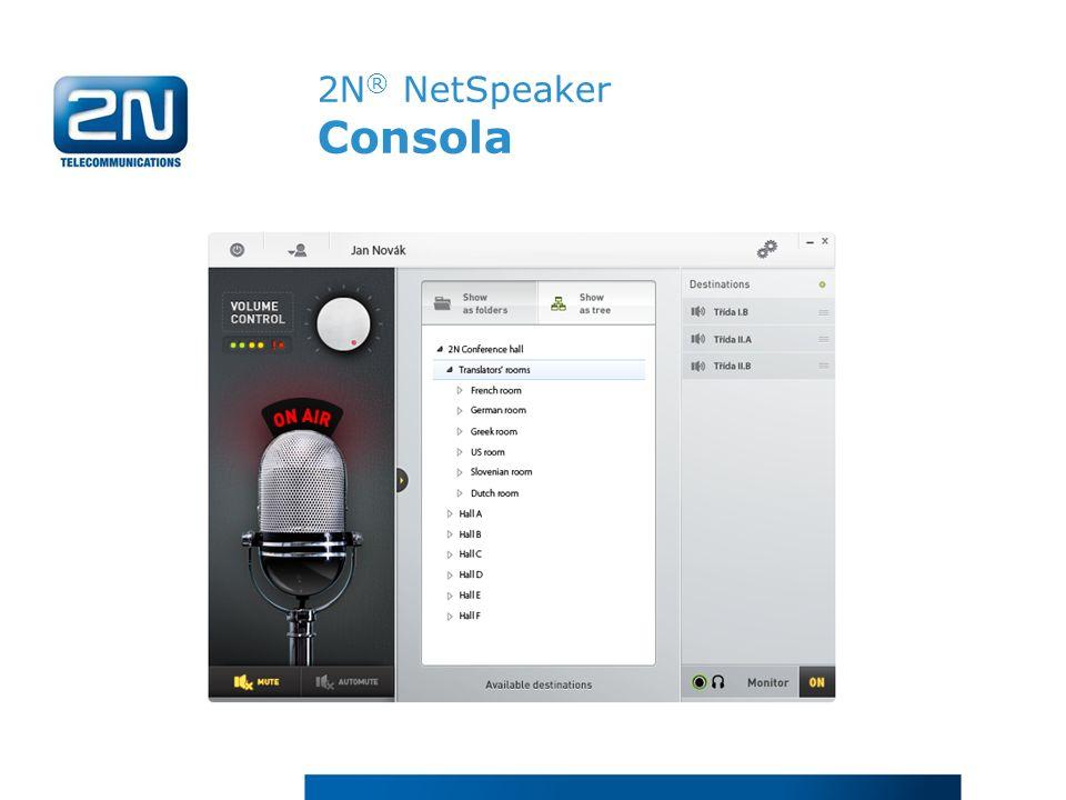 2N ® NetSpeaker Consola
