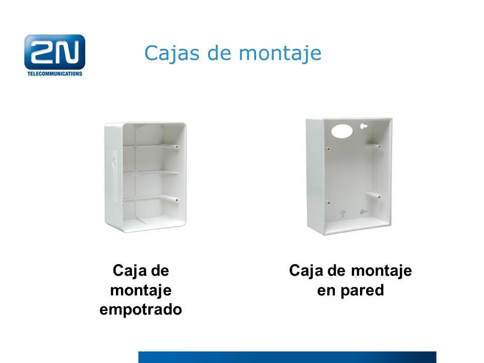 Cajas de montaje Caja de montaje en pared Caja de montaje empotrado