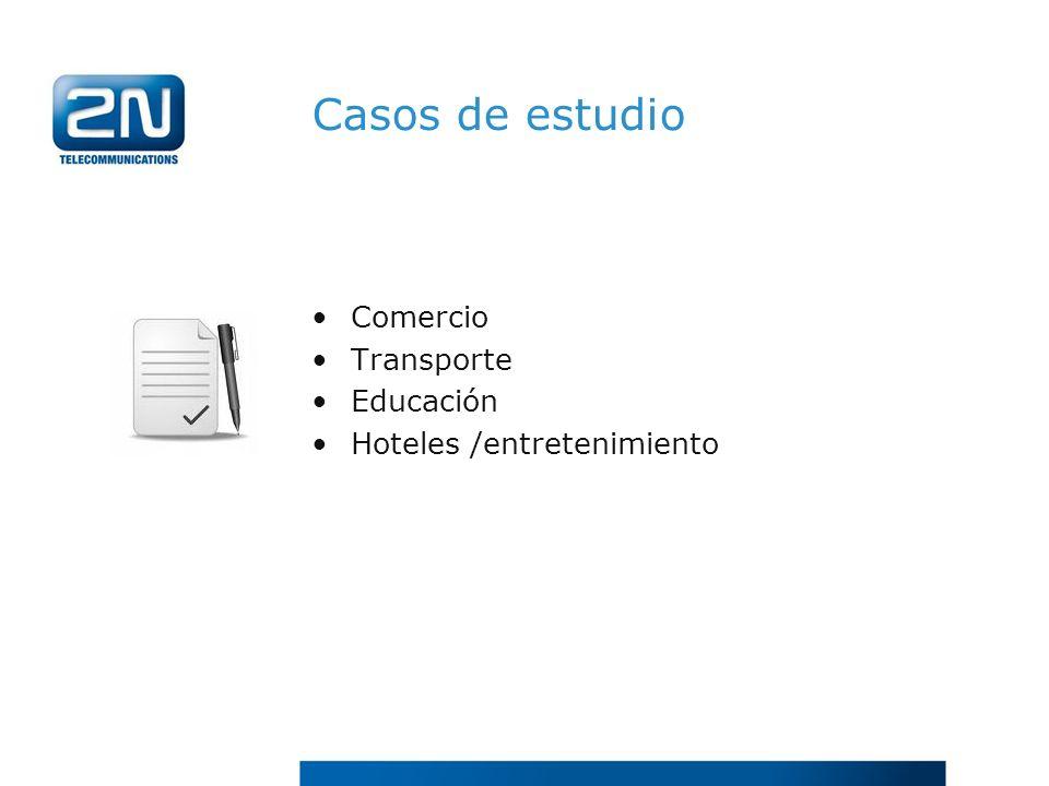 Casos de estudio Comercio Transporte Educación Hoteles /entretenimiento