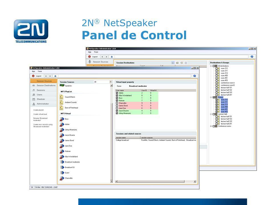2N ® NetSpeaker Panel de Control