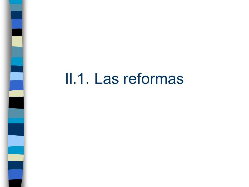 II.1. Las reformas